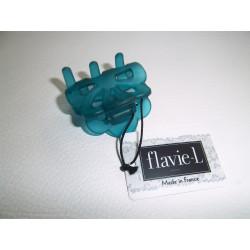 Mode / Pince cheveux 40 mm translucide bleue / Divers
